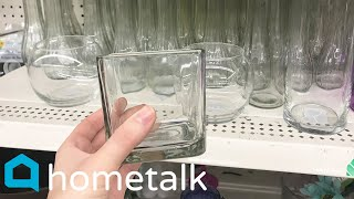 Dollar Store Glass Hack - Fake a high end look with this $6 trick! | Hometalk