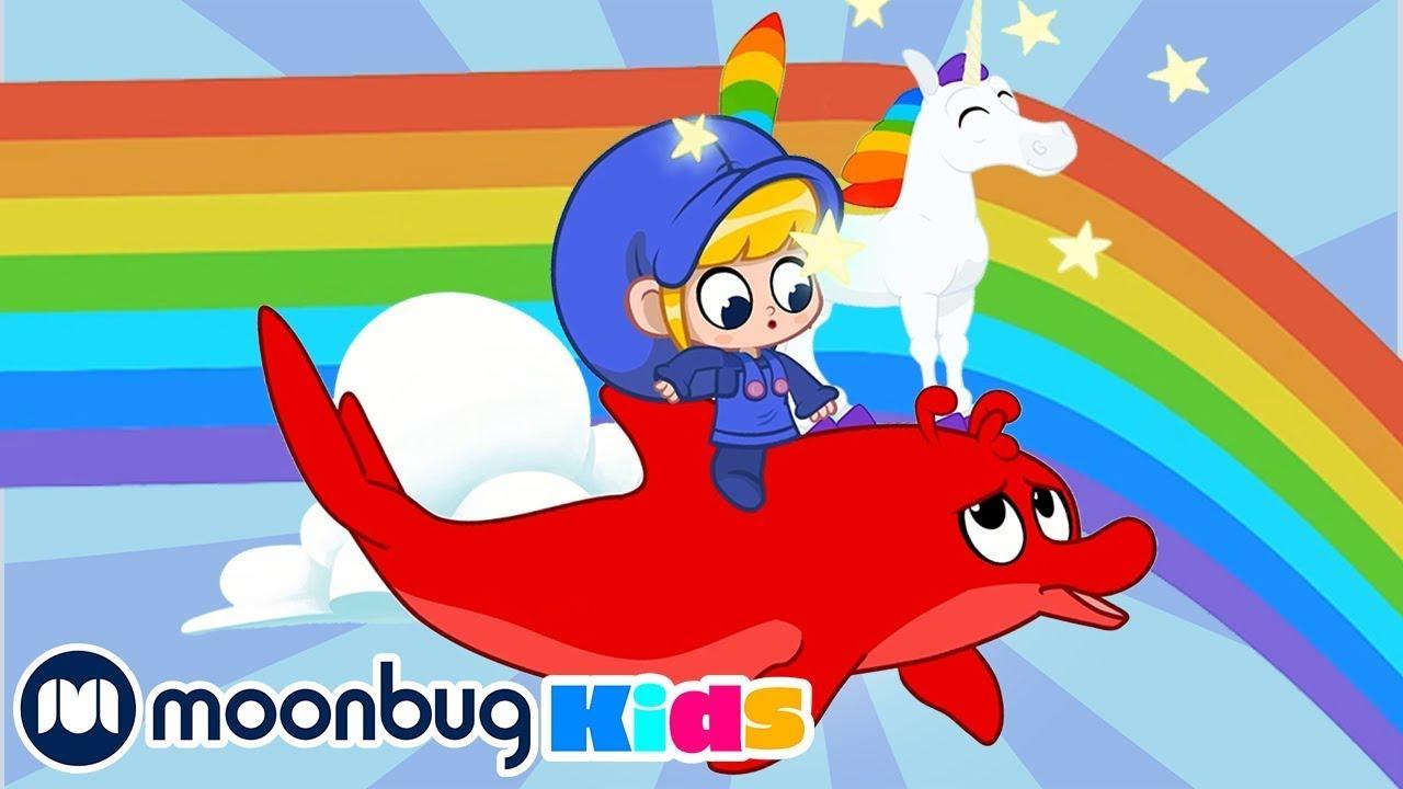Rainbow Unicorns Rainbow Ride - My Magic Pet Morphle | Kids Cartoons & Nursery Rhymes | Moonbug Kids