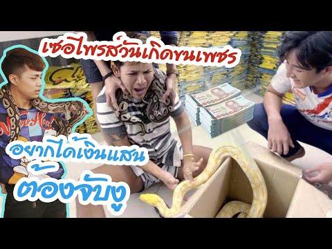 เซอไพร์วันเกิดขนเพชร #อยากได้เงินแสนต้องจับงู 😂