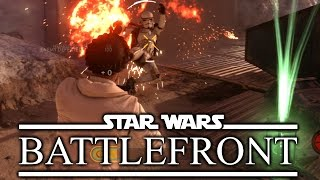 Princess Leia OP - Star Wars Battlefront Gameplay