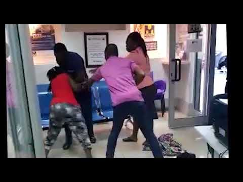 POLICE BEATS UP A WOMAN BRUTALLY AT A BANK BY HALL
