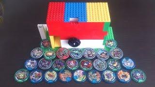 レゴで作った妖怪メダルのガチャガチャ thumbnail