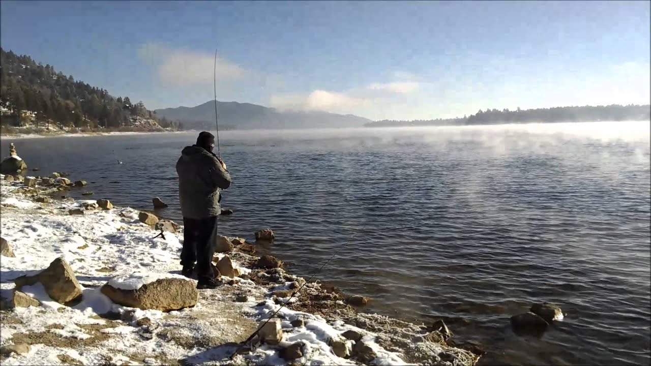 Frigid Fishing Big Bear Lake Ca 11 28 15 Youtube