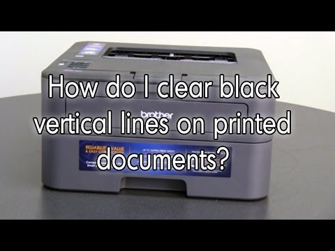 How do I clear black lines on printed documents   Brother Laser Printer