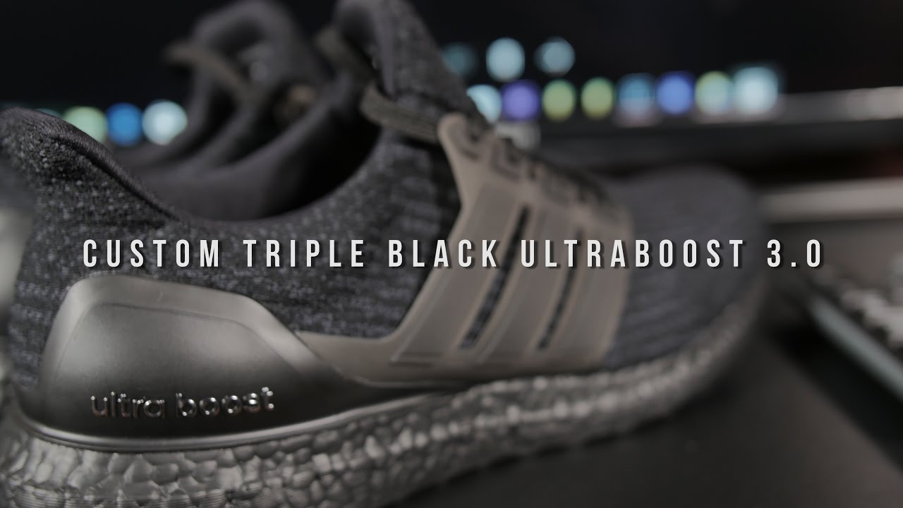 timeless design ea2c6 0430a Triple Black Ultraboost 3.0 Custom