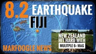 8.2 earthquake rocks the Fiji Region! | New Zealand is getting constant 5.9 to 6 mags