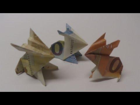 hase aus geldschein falten origami geldgeschenk doovi. Black Bedroom Furniture Sets. Home Design Ideas
