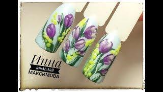 🌸 ВЕСЕННИЙ дизайн ногтей гель лаком 🌸 ВЕСЕННИЙ БУКЕТ на ногтях 🌸 ЦВЕТЫ на ногтях 🌸