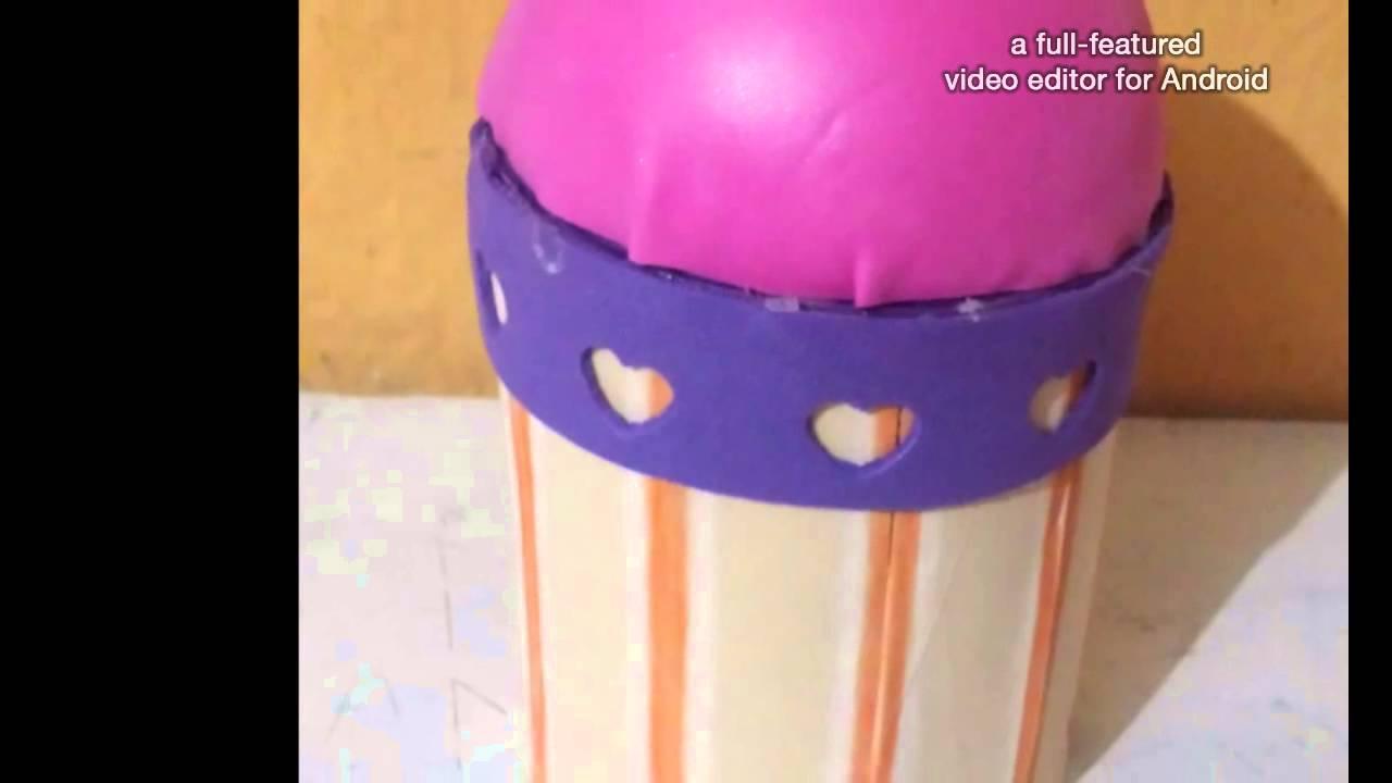 Dulcero con forma de helado hecho con goma eva youtube - Lamparas con goma eva ...