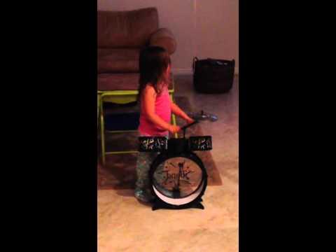 Plays drums 679