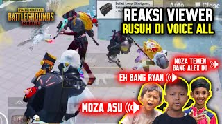 REAKSI VIEWER RUSUH DI VOICE CHAT ALL !!! ASLI RAME BANGET !!! - PUBG MOBILE INDONESIA