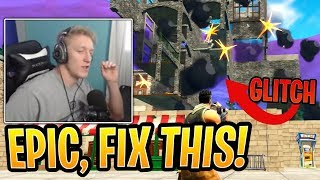Tfue Shows *NEW* Instant Building Destruction GLITCH! - Fortnite Best and Funny Moments