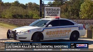 Gun range customer killed in accidental shooting