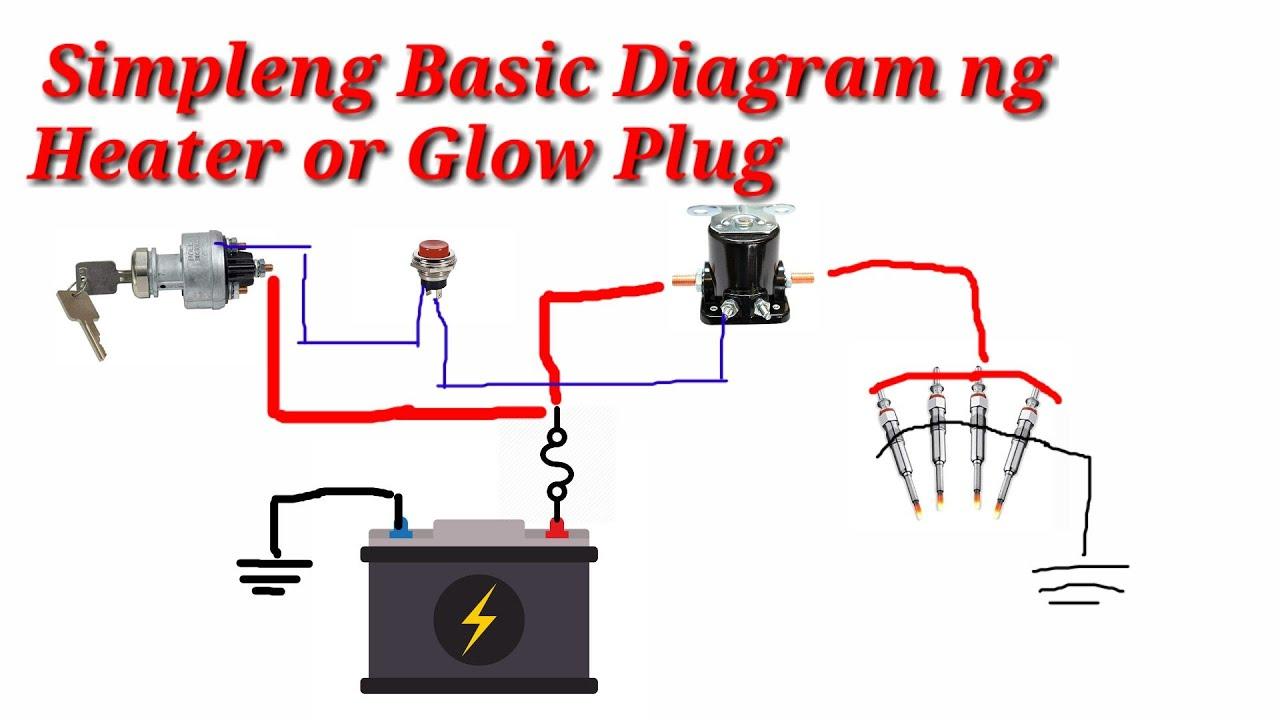 Simpleng Basic Diagram o Connection ng Heater Plug or Glow Plug - YouTube