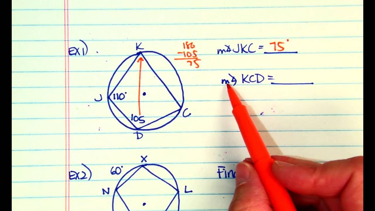 Inscribed Quadrilaterals