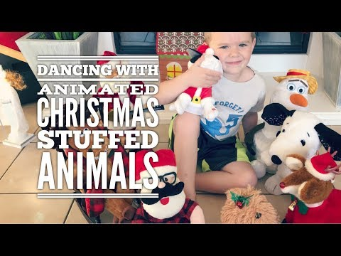 Dance with Animated Christmas Stuffed Animals - Fun Kids Video