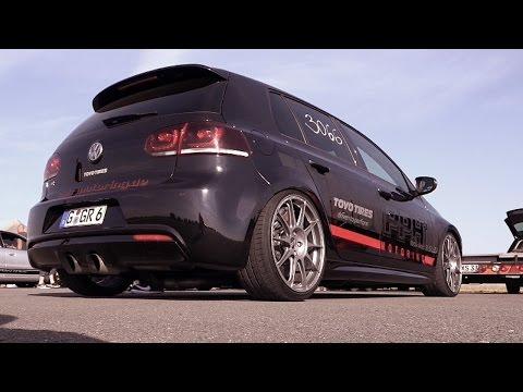 VW Golf 6 R Turbo Tuning Acceleration Sound