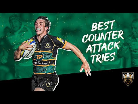 Stunning Counter-attacking Tries From Northampton Saints