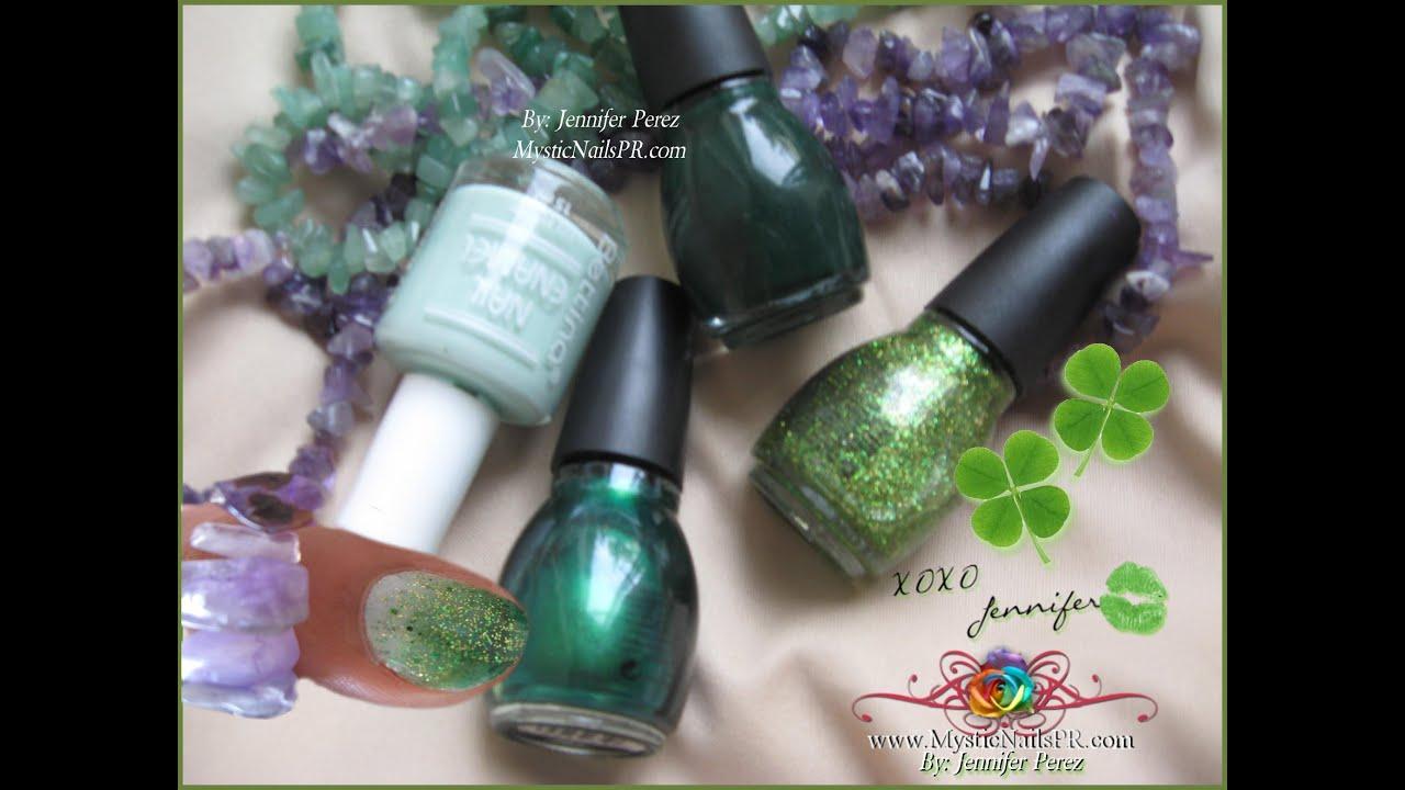 Emerald Green Ombre Nails 2013 ☆ Jennifer Perez ♥ MysticNailsPR ...