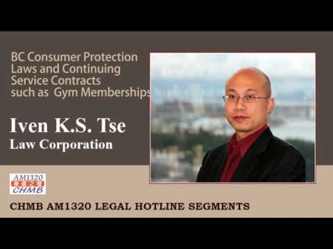 Jan 7, 2017 : BC Consumer Protection Laws and Continuing Ser
