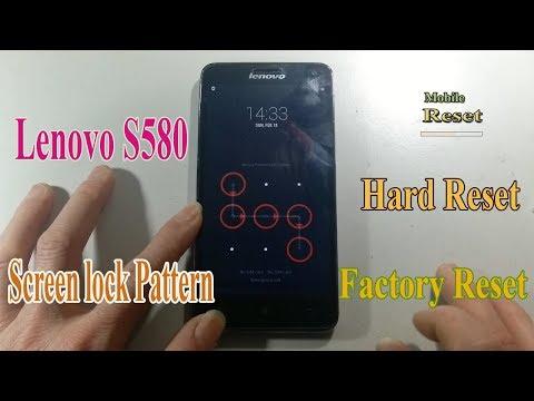 Hard Reset Lenovo S580 Bypass Screen lock pattern.