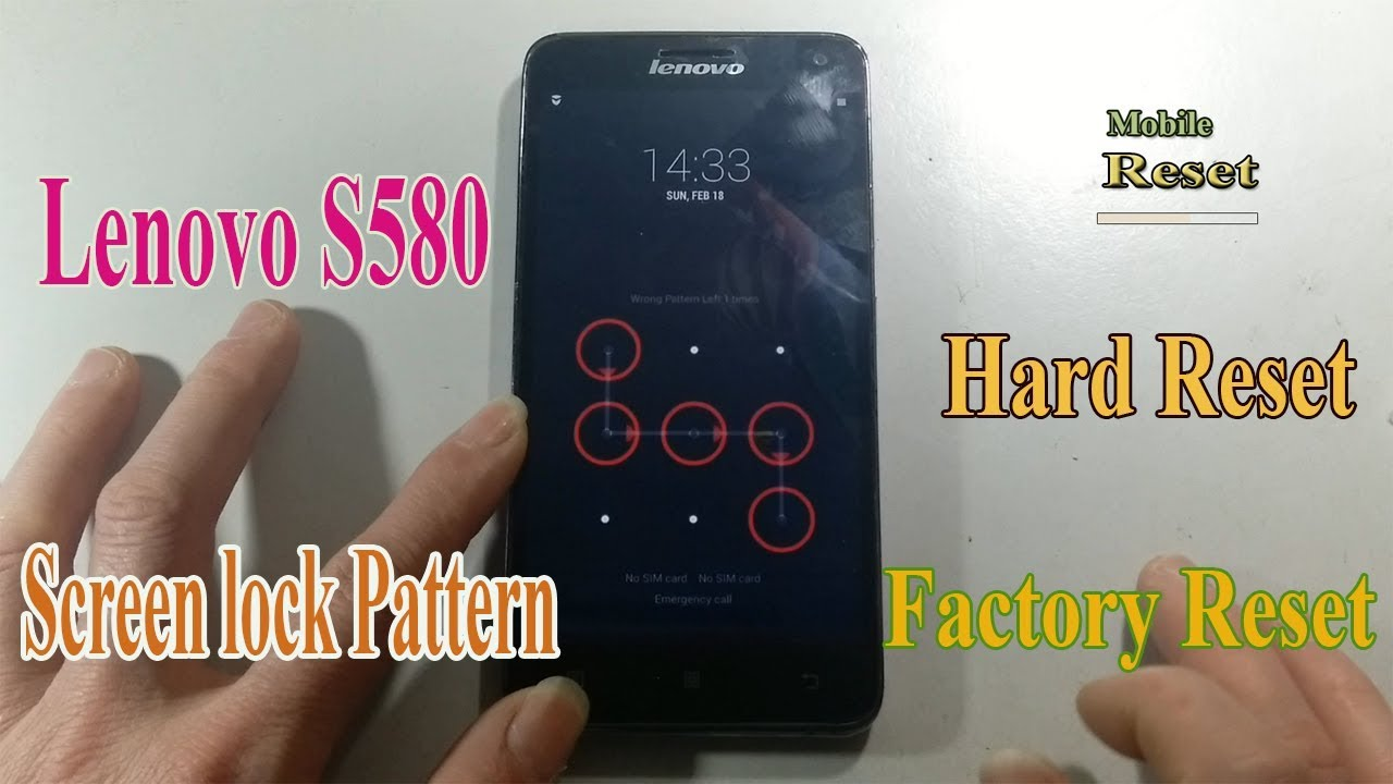 Hard Reset Lenovo S580 Bypass Screen lock pattern.