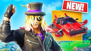 NEW Epic Stage Slayer Skin & LEGENDARY Flying Car! *Pro Fortnite Player* // 1,450 Wins // (Fortnite)
