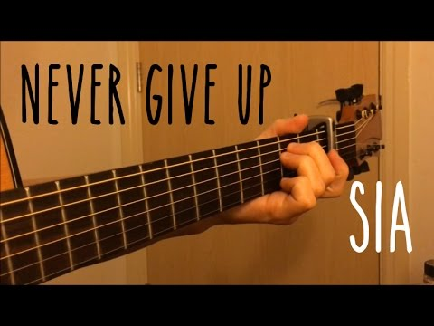 Never Give Up - Sia - Fingerstyle Guitar Cover (Free Tabs)