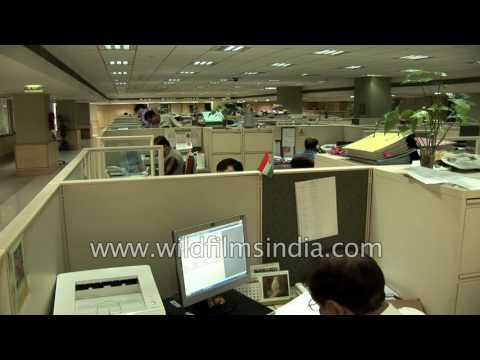 Office Environment In India: Work Place Footage