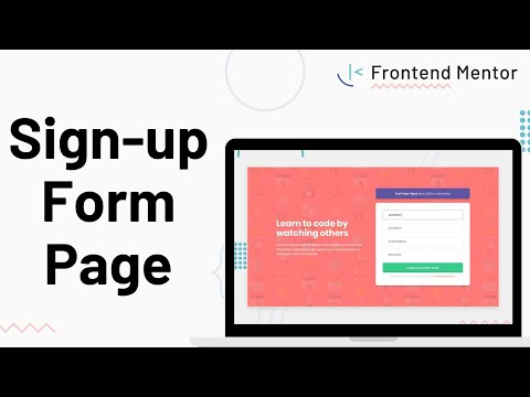 Sign-up Form - Design To HTML/CSS