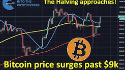 Bitcoin price surges as the halving looms