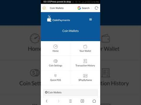 How to Use Coinpayments Crypto currency wallets.