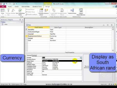 Working in table design view no 1 in microsoft access for Table design view access