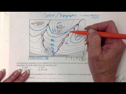 Contour Map / Topographic Map Reading