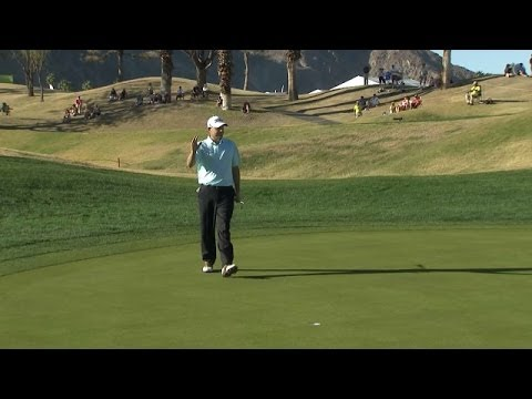 Bill Haas drains 24-foot birdie on No. 9 at Humana Challenge
