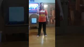 My sister amber lip singing and dancing to friends by kidz bop