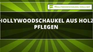 Hollywoodschaukel aus Holz pflegen