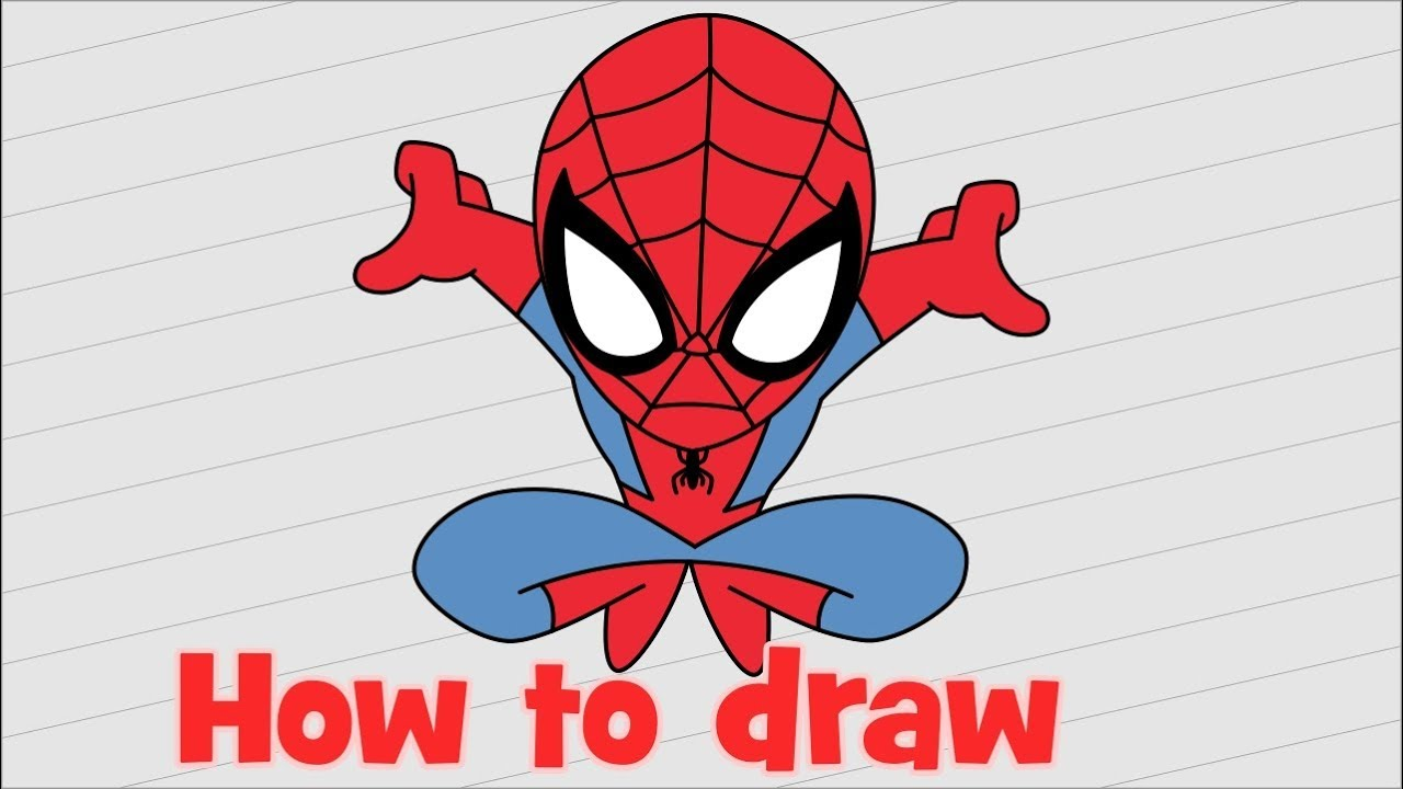 How to draw spiderman homecoming for beginners