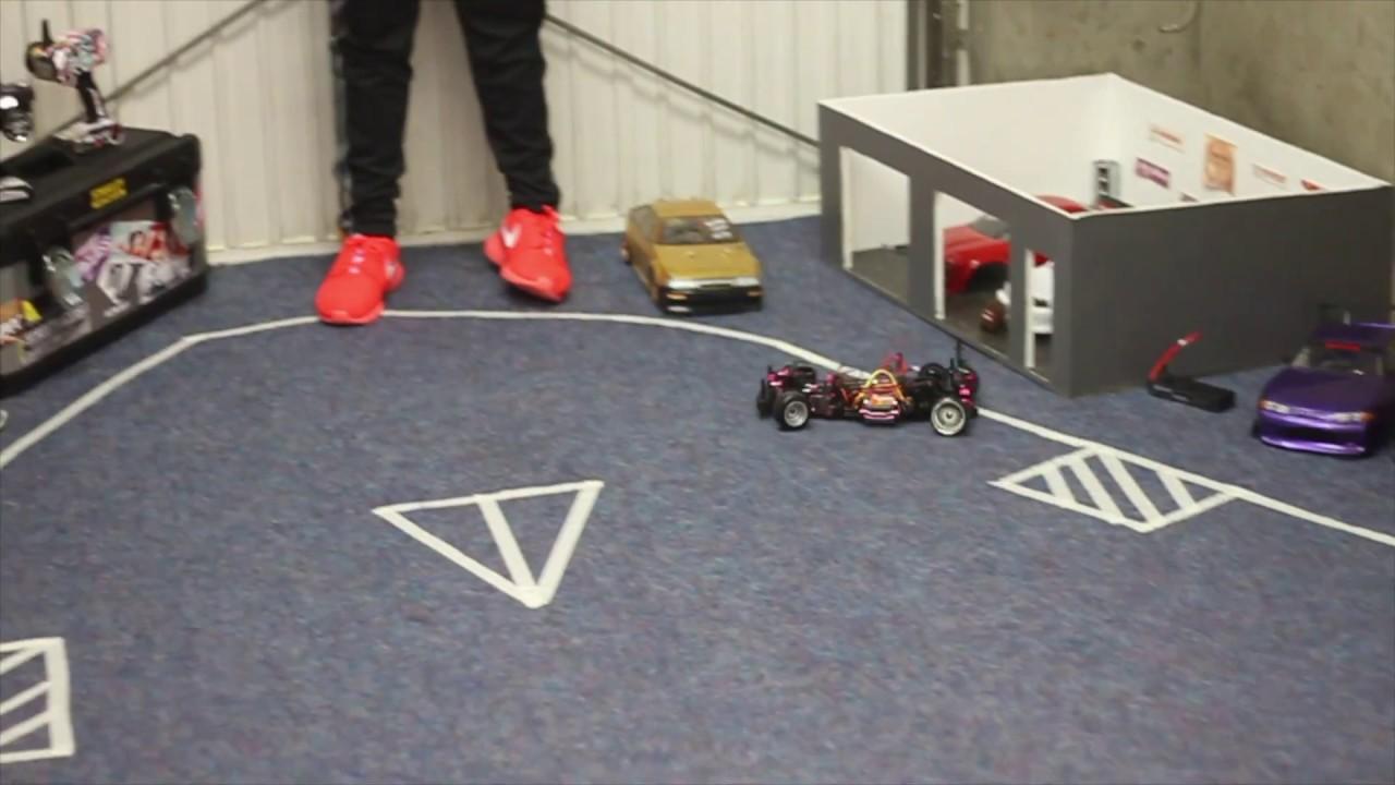 RC DRIFT TRACK GARAGE DIY VOL YouTube - Race track garage flooring