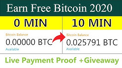 2 Free Bitcoin Earning Sites 2020 - Earn Free Btc With Zero Investment 0.02 BTC Live Payment Proof