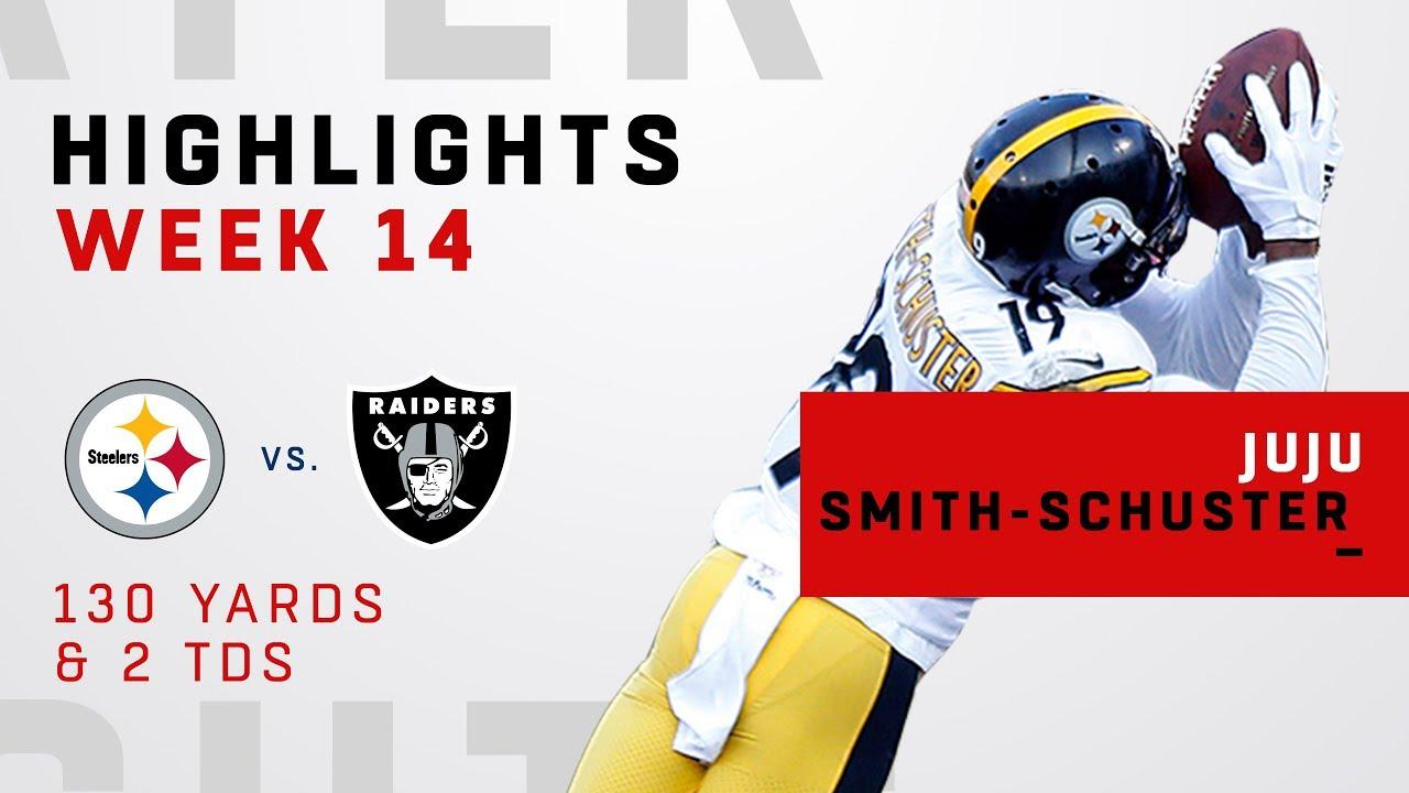 JuJu Smith-Schuster Highlights vs. Raiders