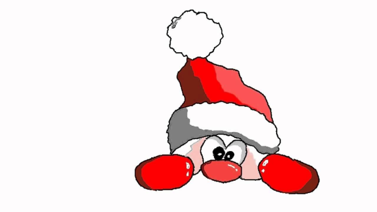 1 weihnachtsmann wichtel mit ein paar strichen und. Black Bedroom Furniture Sets. Home Design Ideas