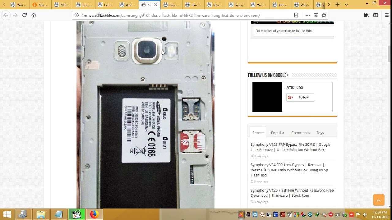 Samsung G910F Clone Flash File MT6572 Firmware Hang Fixd Done Stock ROM