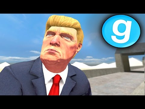 PRESIDENT DONALD TRUMP RULES THE BORDER!! Garry's Mod Roleplay (Gmod Mexican Border Patrol)