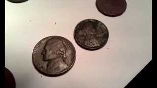 Metal detecting found my 2nd oldest coin. Plus some others