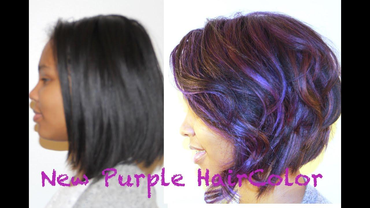color hair purple