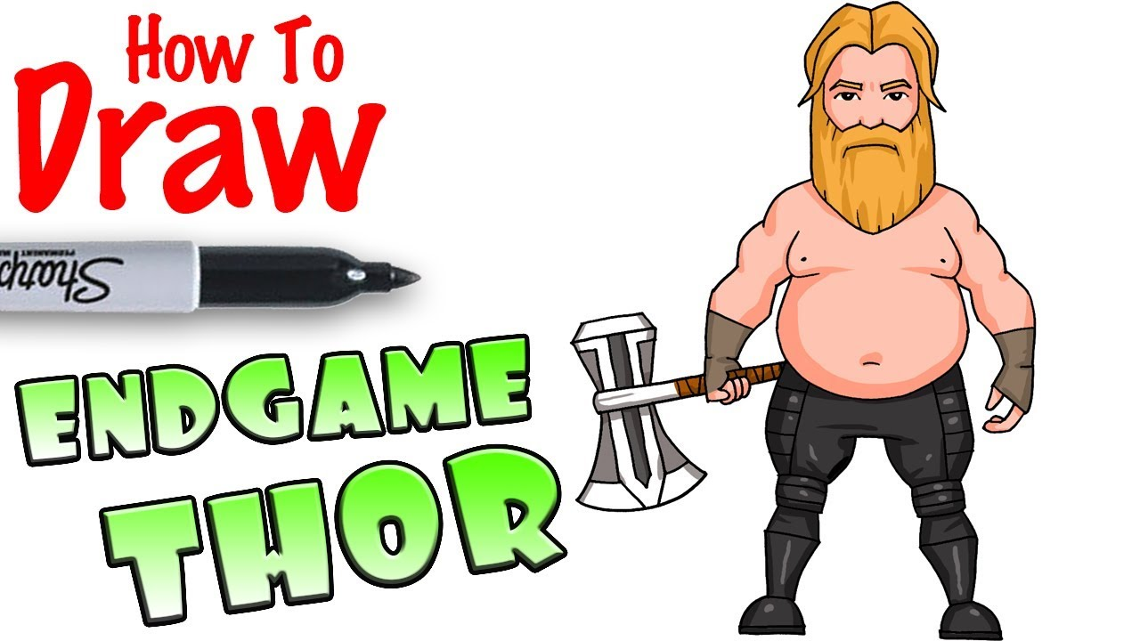 How to Draw Fat Thor in Avengers Endgame - YouTube