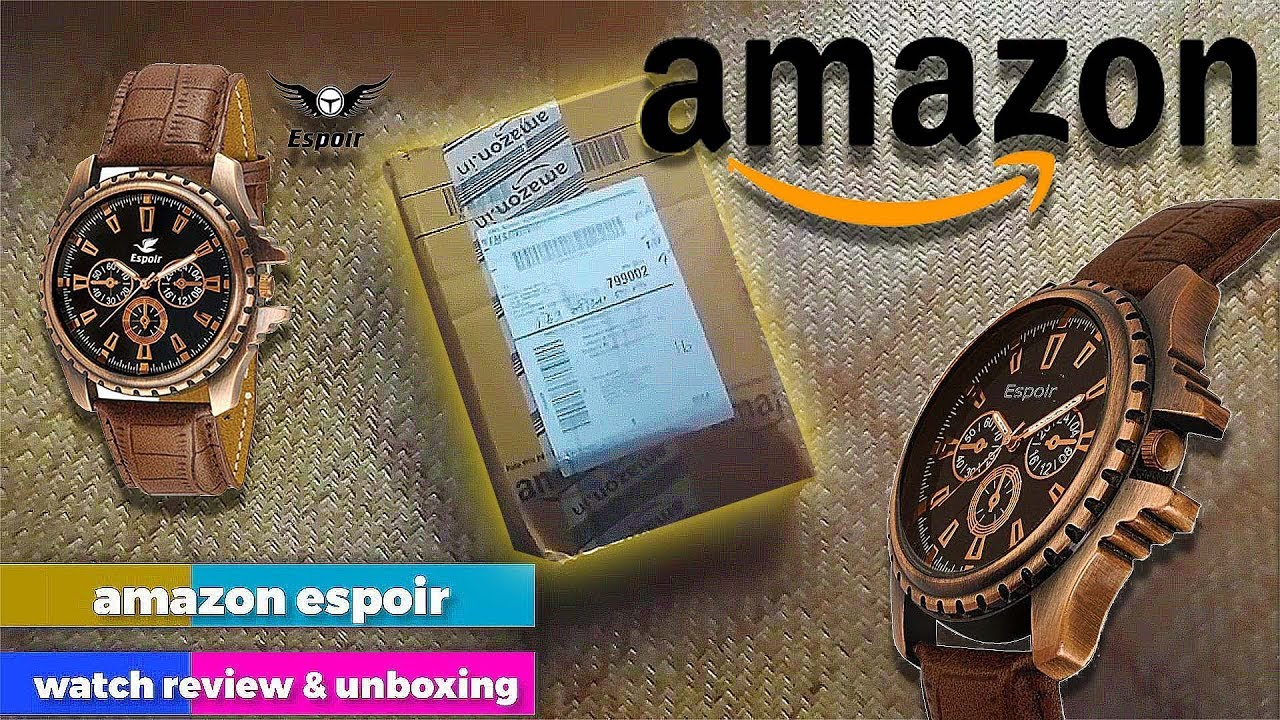 Amazon Espoir Analog Watch Unboxing and Review
