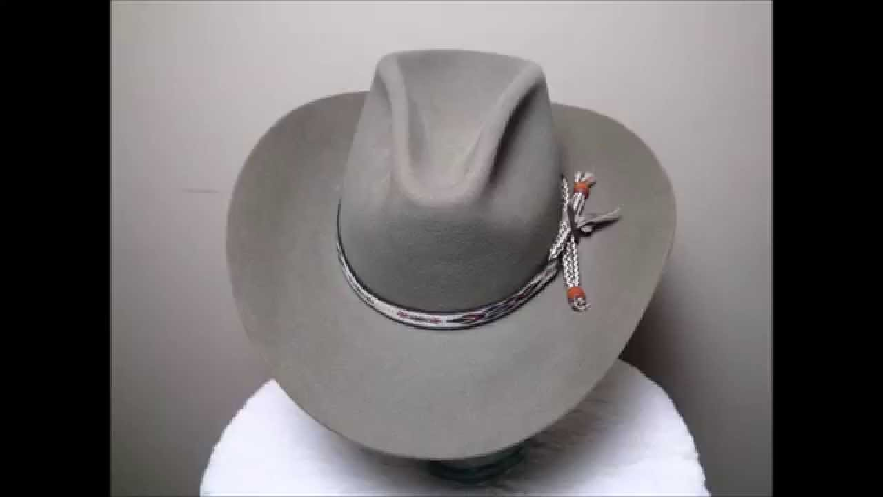Vintage Stetson 3X Beaver Dark Sand Western Cowboy Hat - YouTube 170e4eaf528