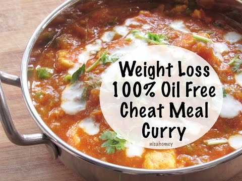 Oil Free Paneer Curry Recipe - Indian Veg Red Curry Gravy - Quick Weight Loss & Inch Loss